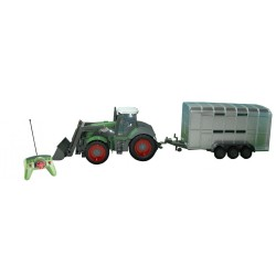 TRACTOR PALA + REMOLQUE ANIMALES RC 1/28 QingYi