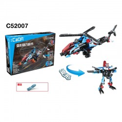 HELICOPTER GUNSHIP + ROBOT 2 en 1 Double E
