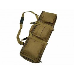 "Bolsa de nailon 33"" Dual para rifle marrón Wisha"