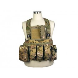 Chaleco Chest Ring Molle 600D negro multicam