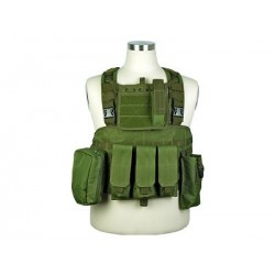 Chaleco Chest Ring Molle 600D verde