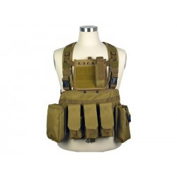 Chaleco Chest Ring Molle 600D marrón claro