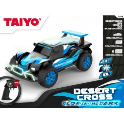 Coche RC Desert Cross 1:18 Glow in the Dark Series 2,4Ghz