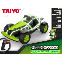 Coche RC Sandcross 1:18 Glow in the Dark Series 2,4Ghz